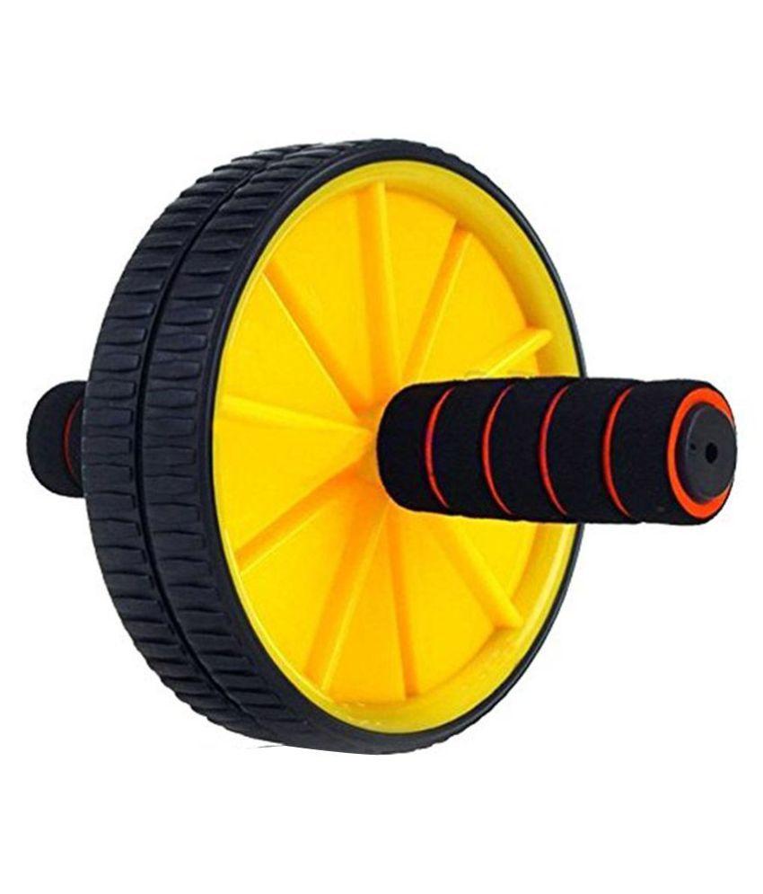 EI Double Wheel Ab Exerciser   Yellow