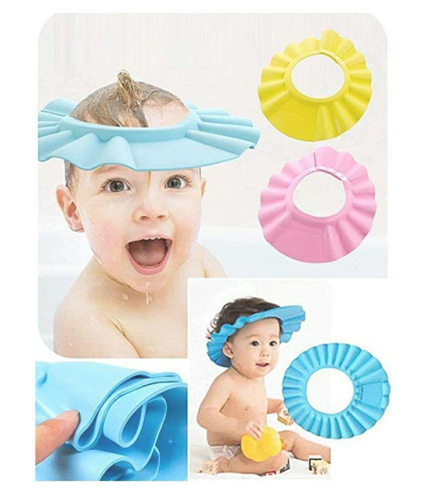KP-ZONE  Baby Toddler Shampoo Bath Shower Cap Wash Hair Ear Shield
