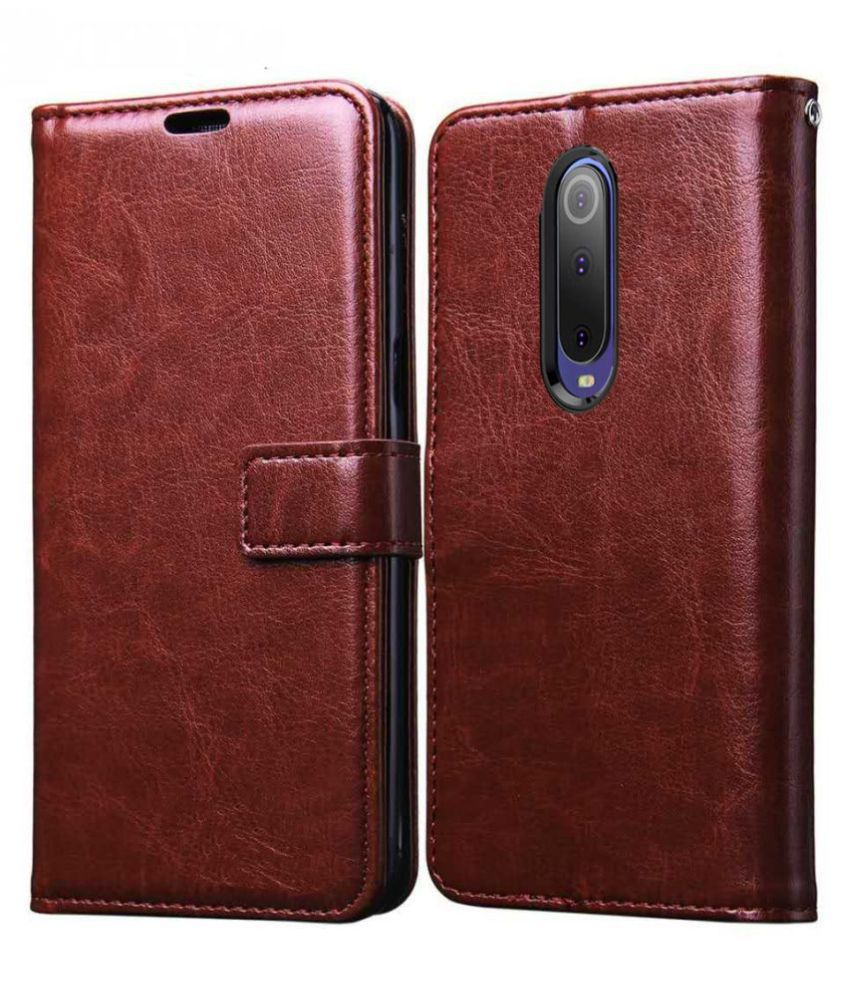 OPPO F11 Flip Cover by Prem Brothers - Brown Premium Quality