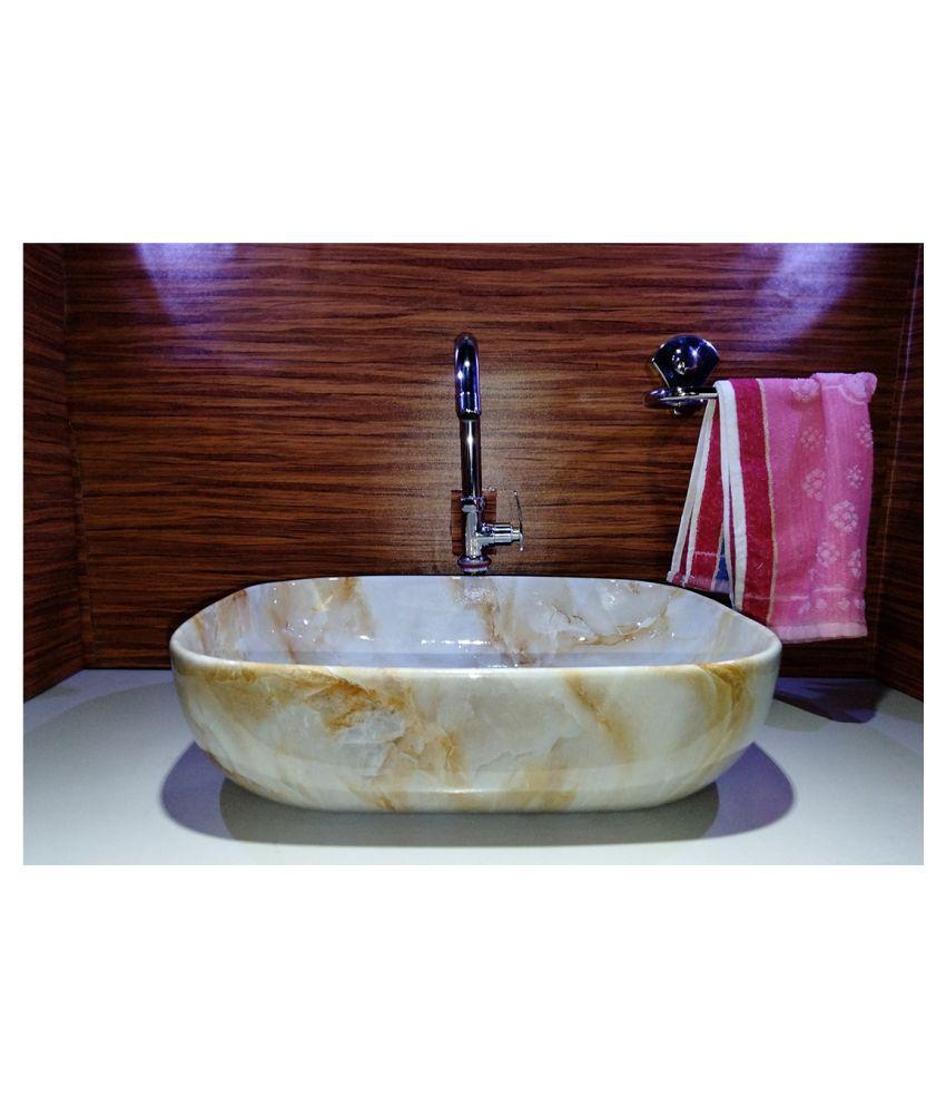 UNIVERSE CERAMIC DECORATORS Multi-Colour Ceramic Over Counter Wash Basins