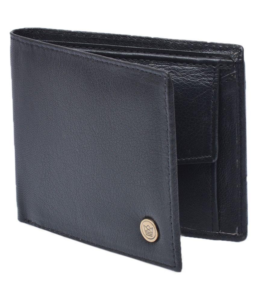U+N Leather Black Casual Regular Wallet