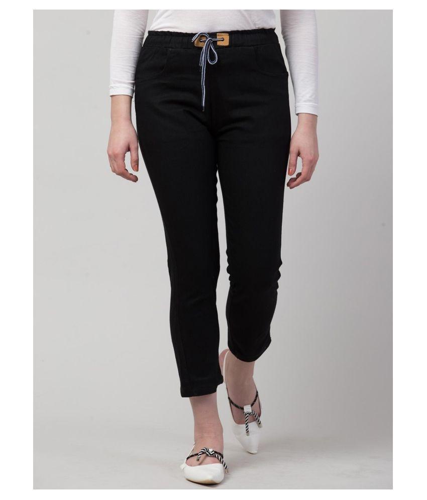 Ira Premium Collections Denim Lycra Jeans - Black