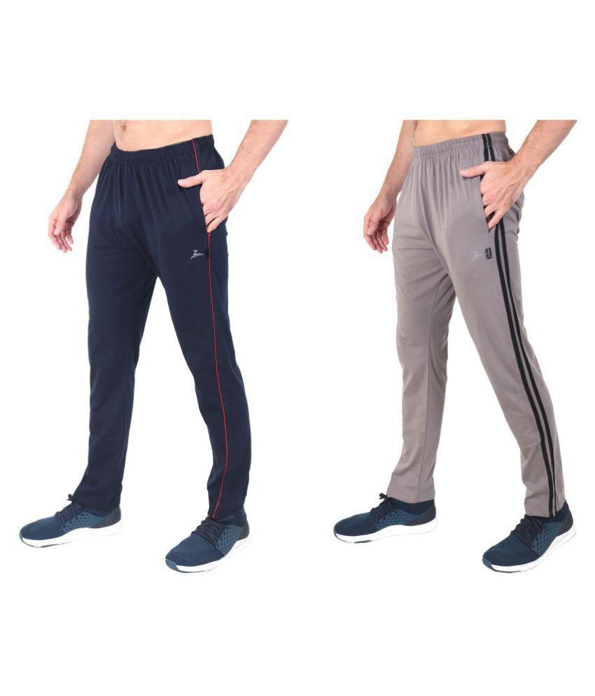 Zeffit Multi Cotton Blend Trackpants Pack of 2
