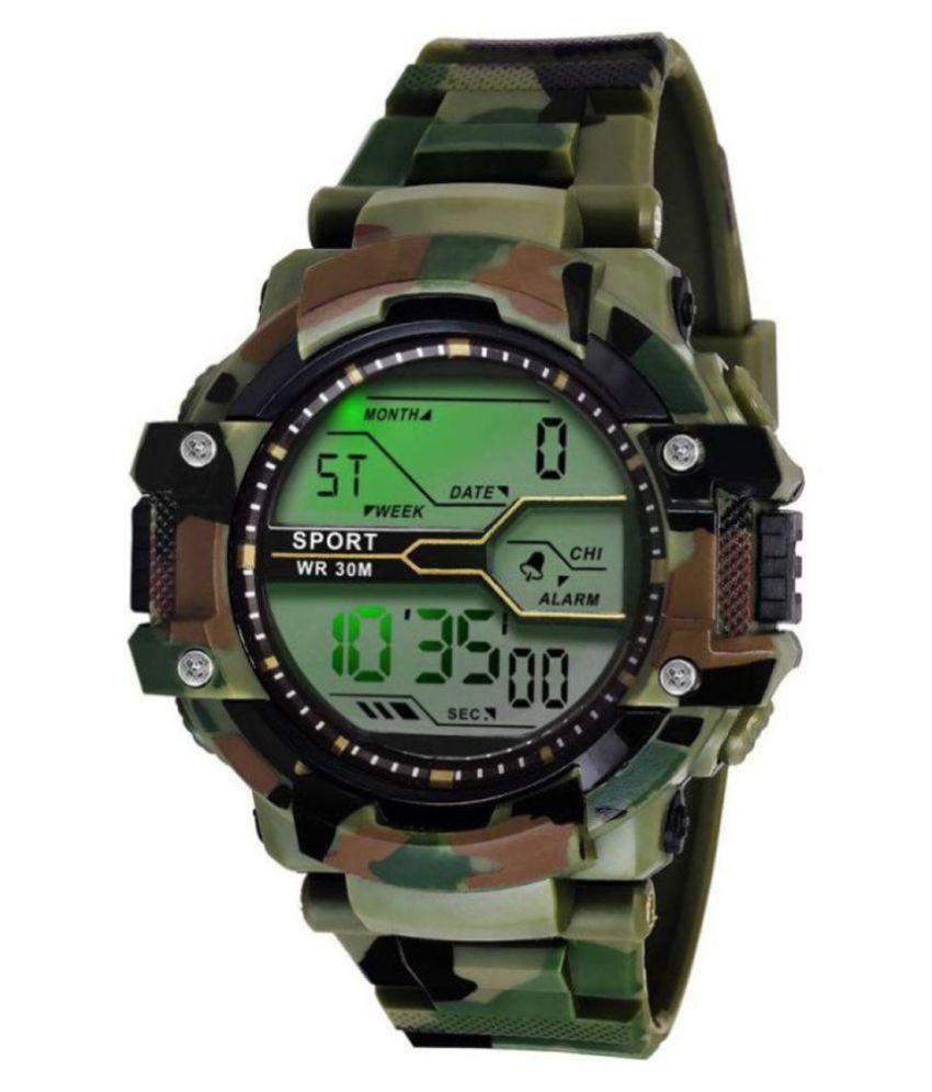 XFORIA Sports Smart Army Silicon Multifunction Men's Watch