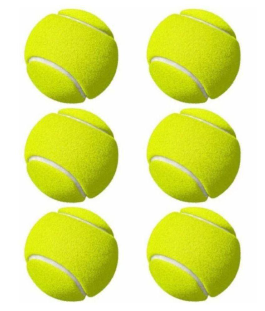 EmmEmm Pack of 6 Pcs Finest Cricket Tennis Ball (Green)
