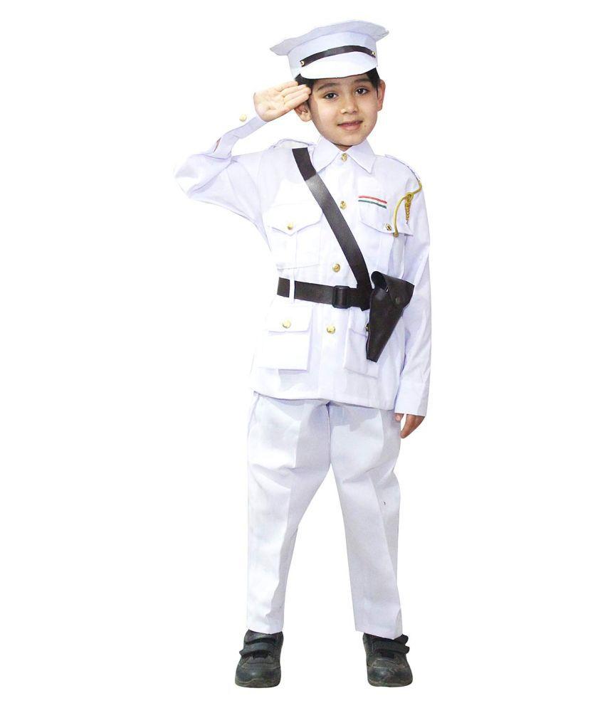 Kaku Fancy Dresses Our Helper/National Hero Indian Air Force Costume -Blue, 3-4 Years, for Boys & Girls