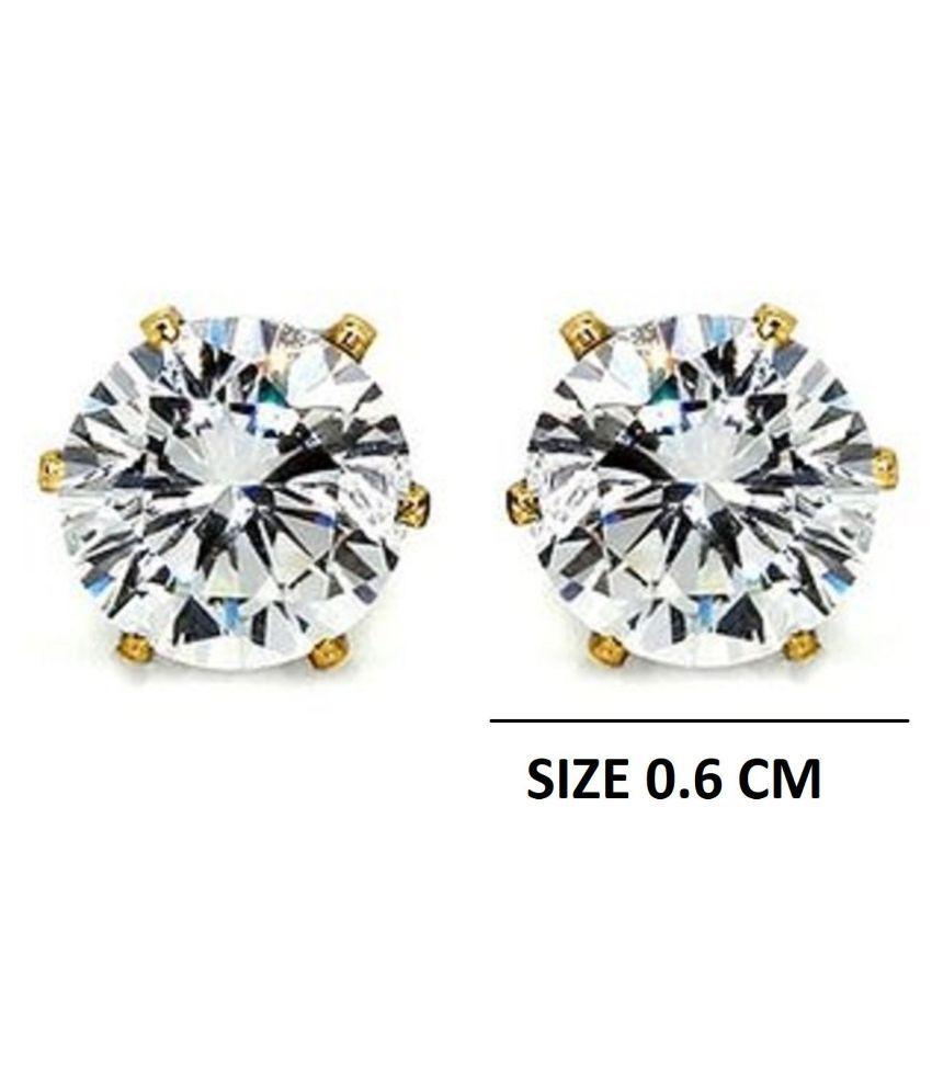GoldNera Austrian Diamond Solitaire Alloy Stud Earrings