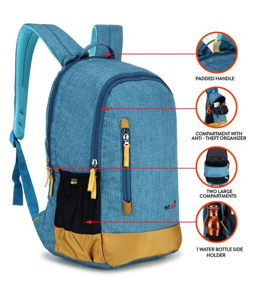 Next Paris Blue Polyester College Bag