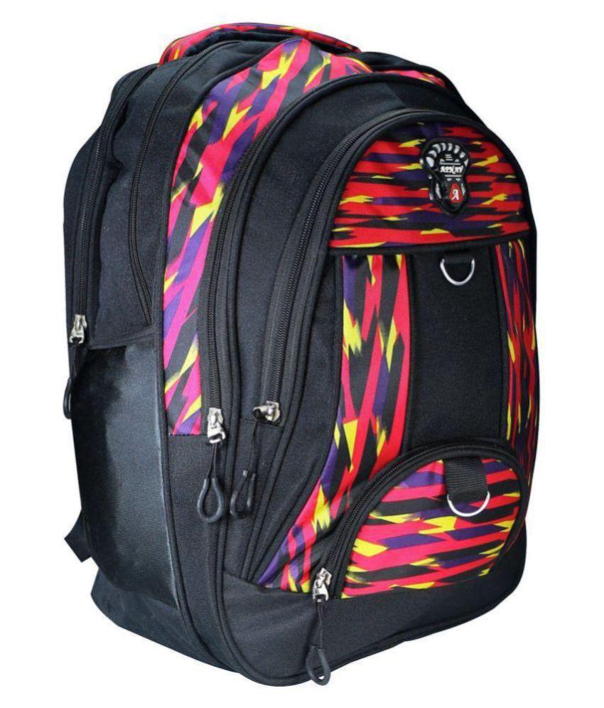 Apnav Black Polyester College Bag