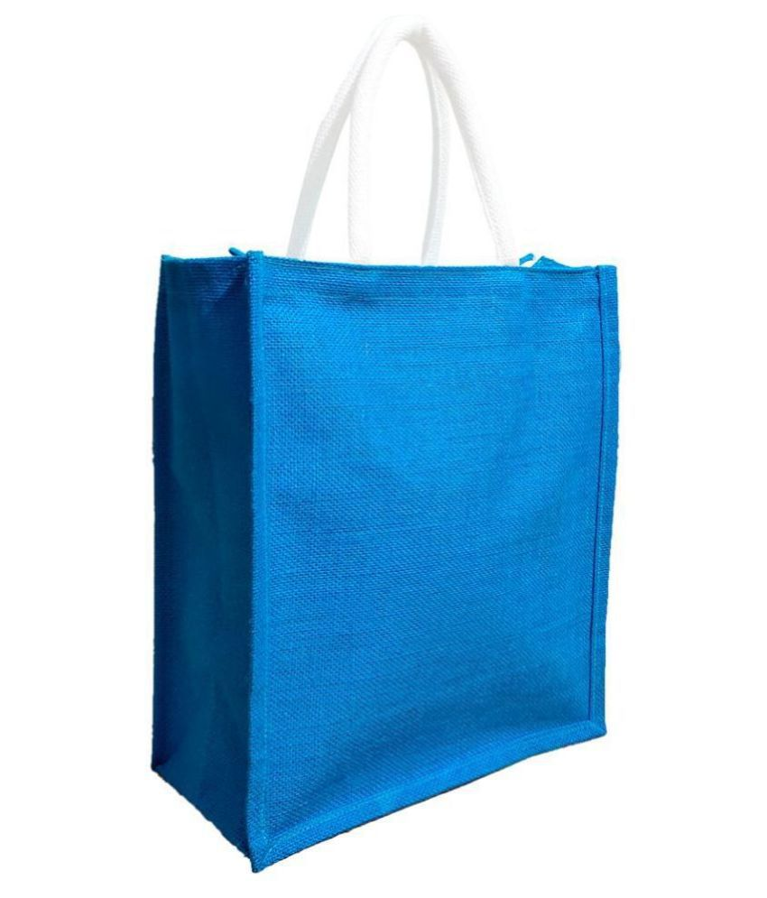 H JUTE BAGS Blue Jute Handheld
