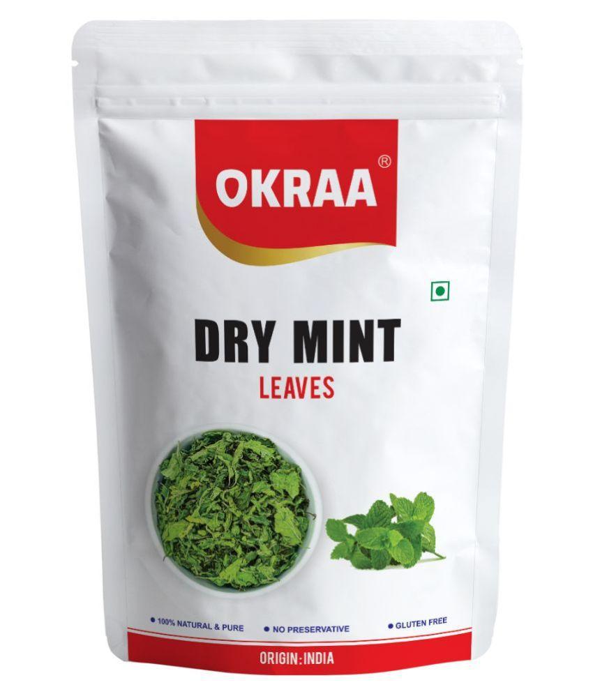 OKRAA Dry Mint Leaves (Pudina Leaves) 100 gm