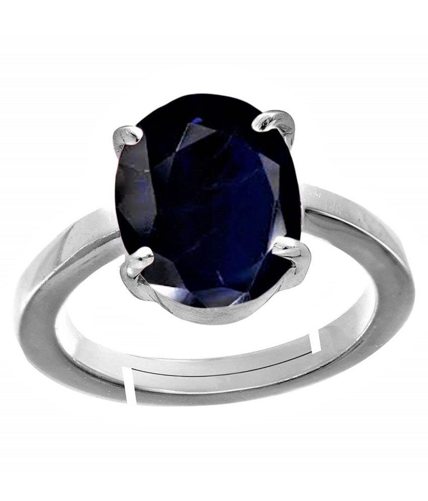 RSPR 11.25 Ratti Neelam Blue Sapphire Gemstone Ring for Unisex