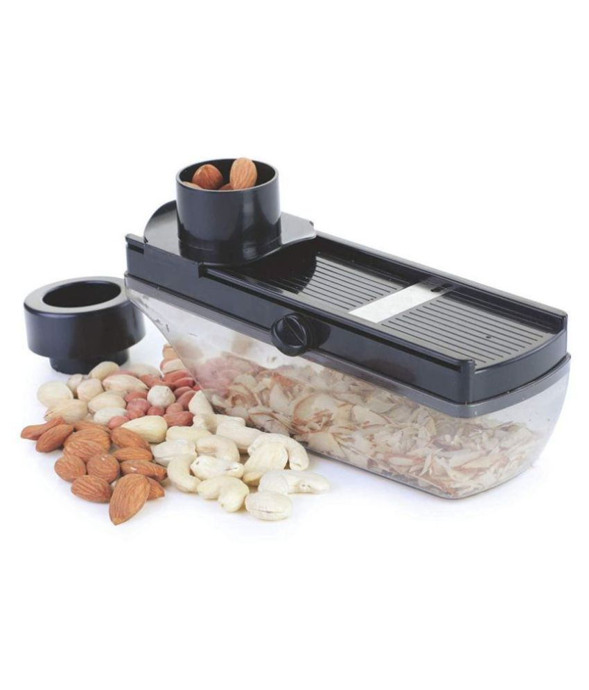 sell4you Stainless Steel Vegetable and Dry Fruit Slicer/Cutter with Hand Guard Holder (Colour May Be as per the Availability )