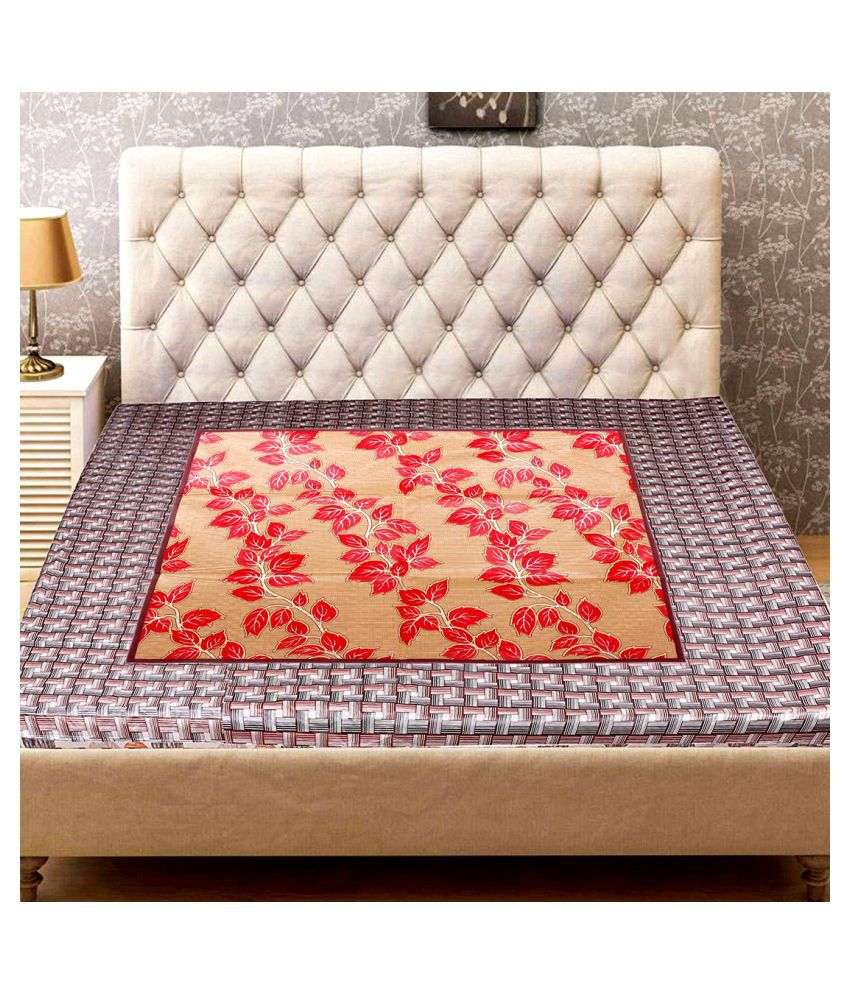 HD Multi-Colour Single bed Polyester Bedsheet ( 1 pcs )