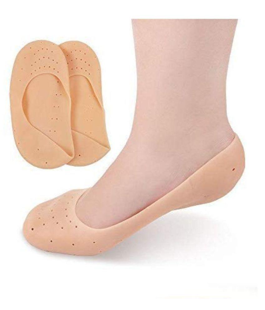 MD IMPEX  Anti Crack Heel Socks Foot Protector Free Size Reusable Moisturizing Full Socks 1 Pairs