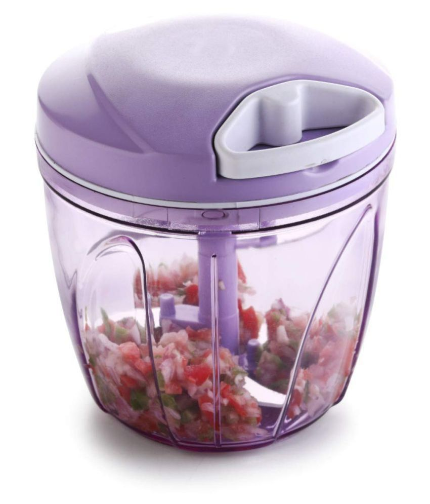 Bizello 900ML Handy Vegetable And Fruit Chopper,Vegetable Cutter, Chilly Cutter, Tomato Cutter with 5 Stainless Steel Blade and 1 Bitter