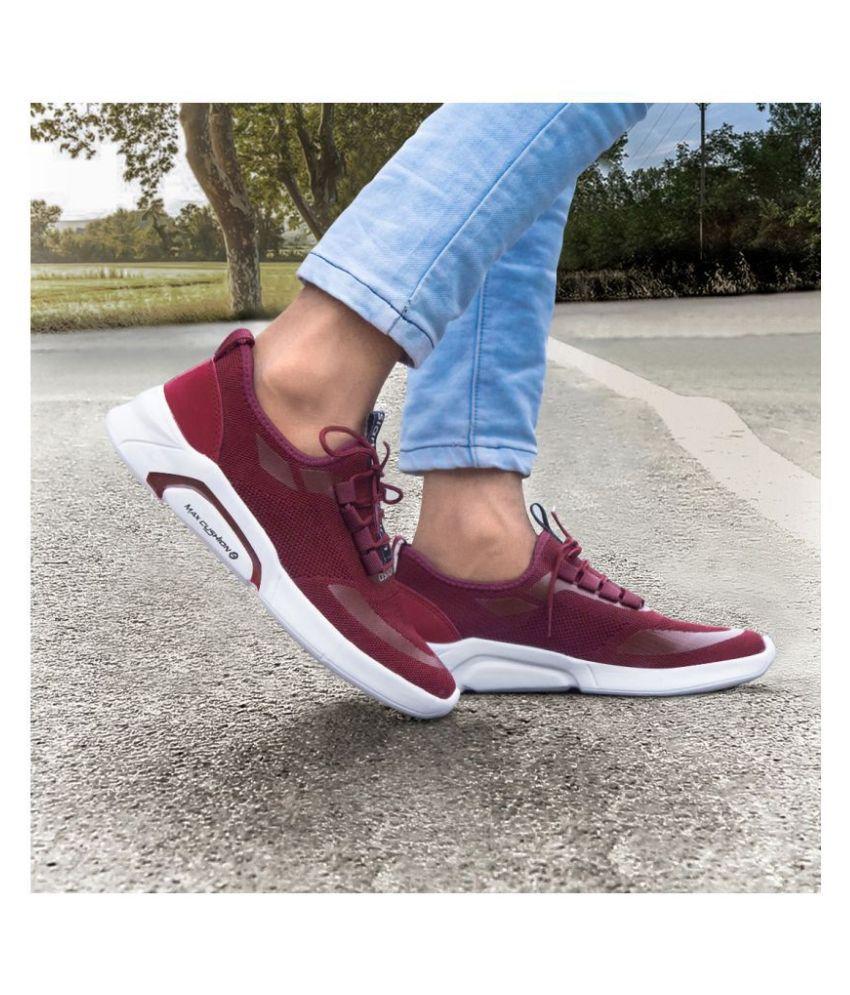 ASIAN Creta-02 Maroon Running Shoes