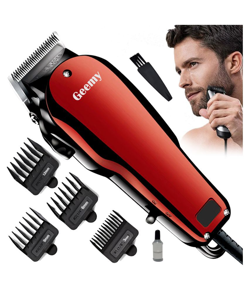 ED Men's Waterproof Corded 9W Beard Mustache Hair Trimmer High Power Hair Clippe Combo