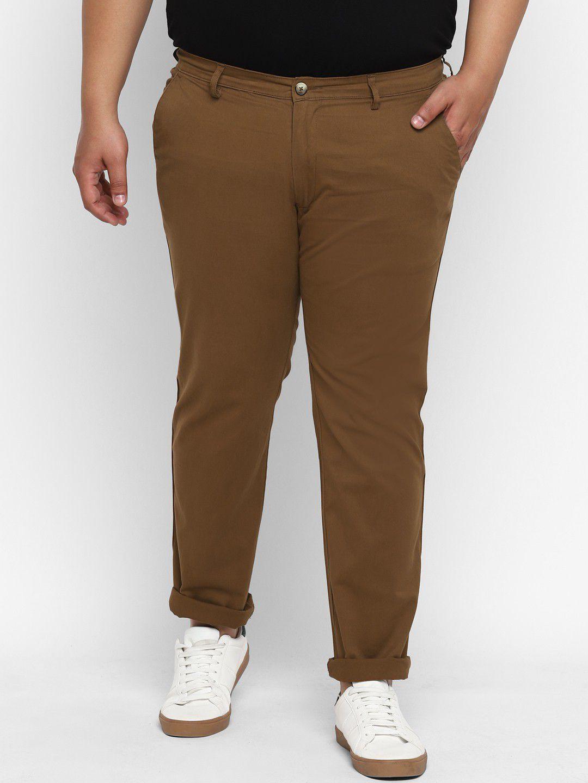 Urbano Plus Brown Regular -Fit Trousers