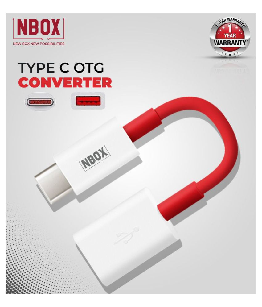 NBOX Type C to OTG Converter for Laptop and Smartphones