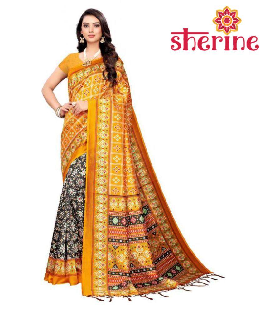 Sherine Yellow Saree With Blouse Piece