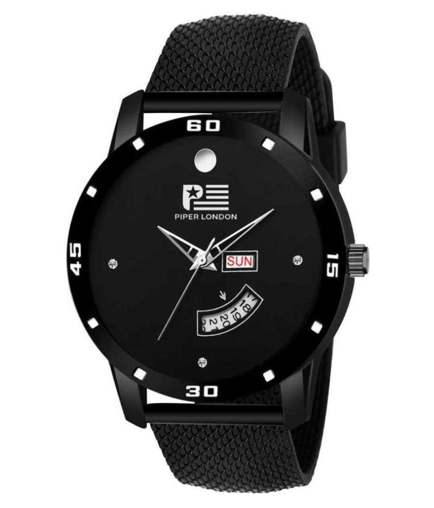 piper london PL-902-BK DD Silicon Analog Men's Watch