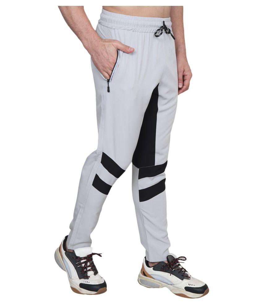 xohy Light Grey Cotton Lycra Trackpants Single