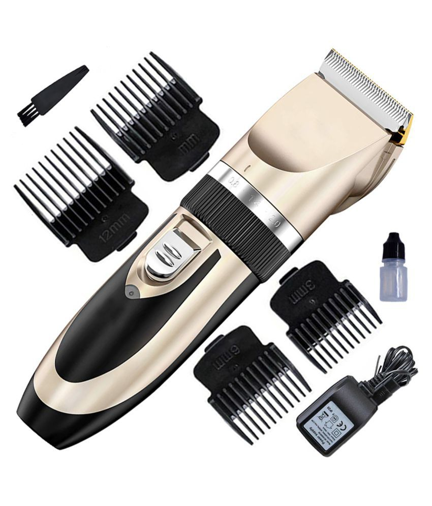 HB Rechargeable Waterproof Cordless Beard Mustache Trimmer Hair Clipper For Men Multi Casual Fashion Comb