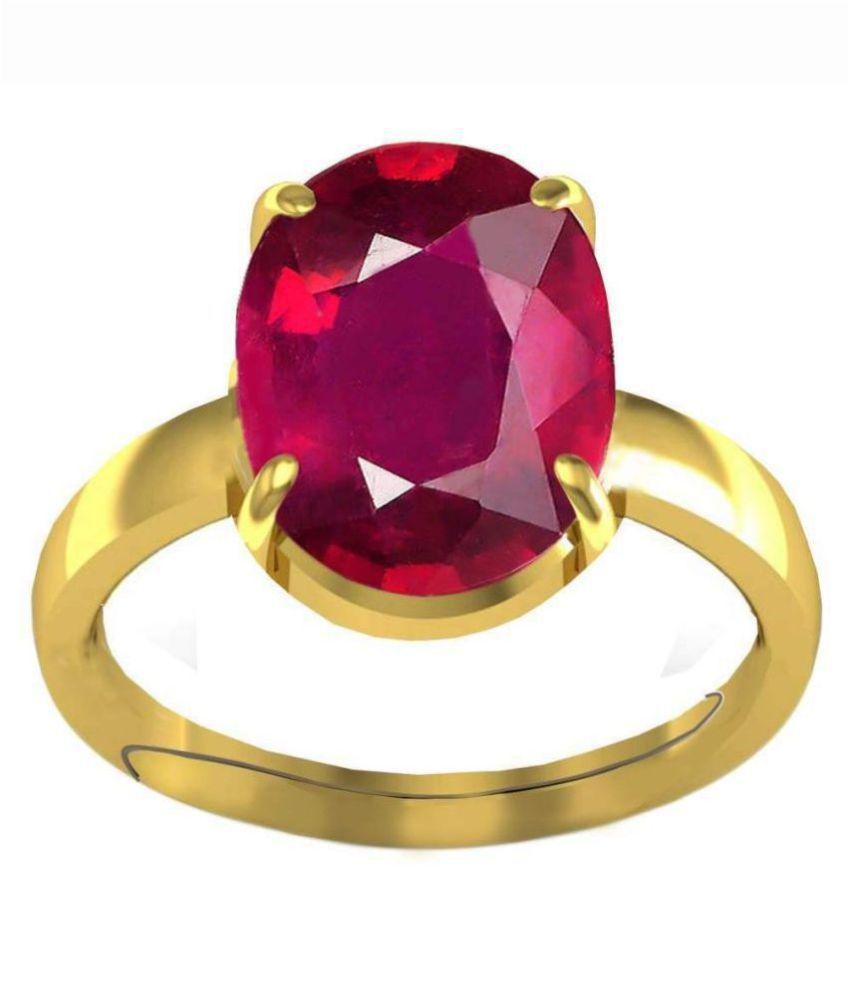 A1 Gems 7.25 Ratti 6.42 Carat A+ Quality Burma Ruby Manik Gemstone For Women's and Men's