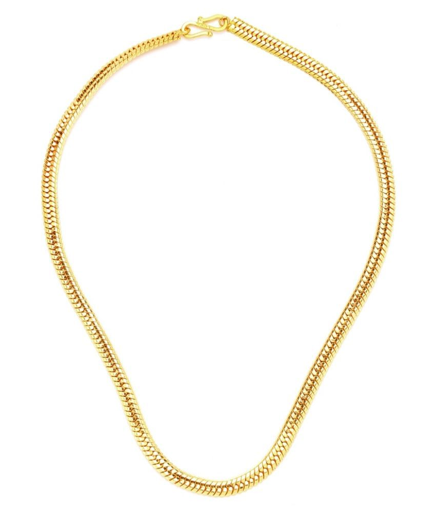 GoldNera Alloy Gold Plated Men's Chain - 18 inch