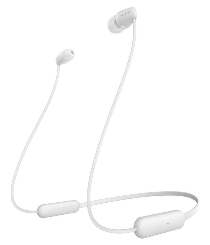 Sony WI-C200 Wireless Neck-Band Headphones Black