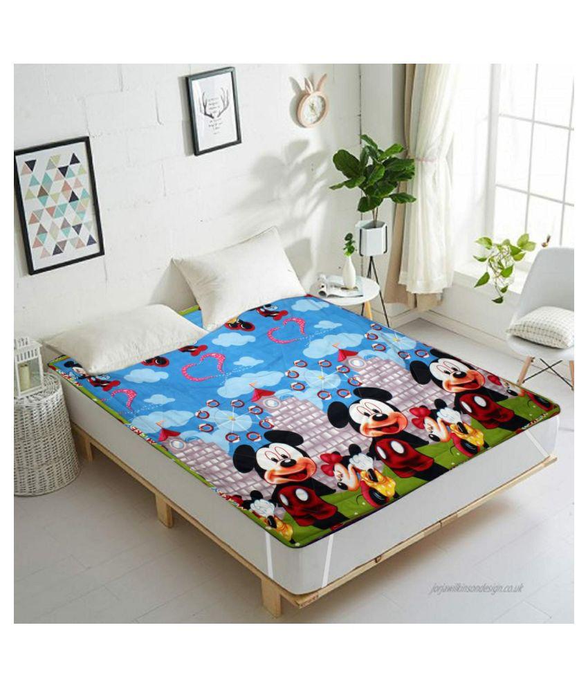 Vikas Trading Multi-Colour Cotton Mattress Protector
