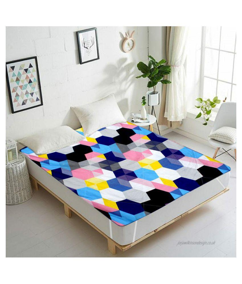 Vikas Trading Multi-Colour Poly Cotton Mattress Protector