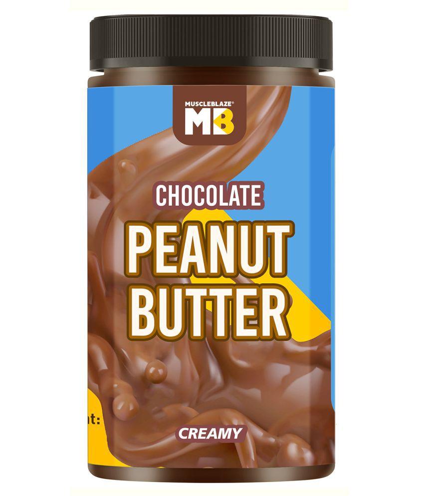 MuscleBlaze Chocolate Peanut Butter, Creamy, 750g, No Oil Separation