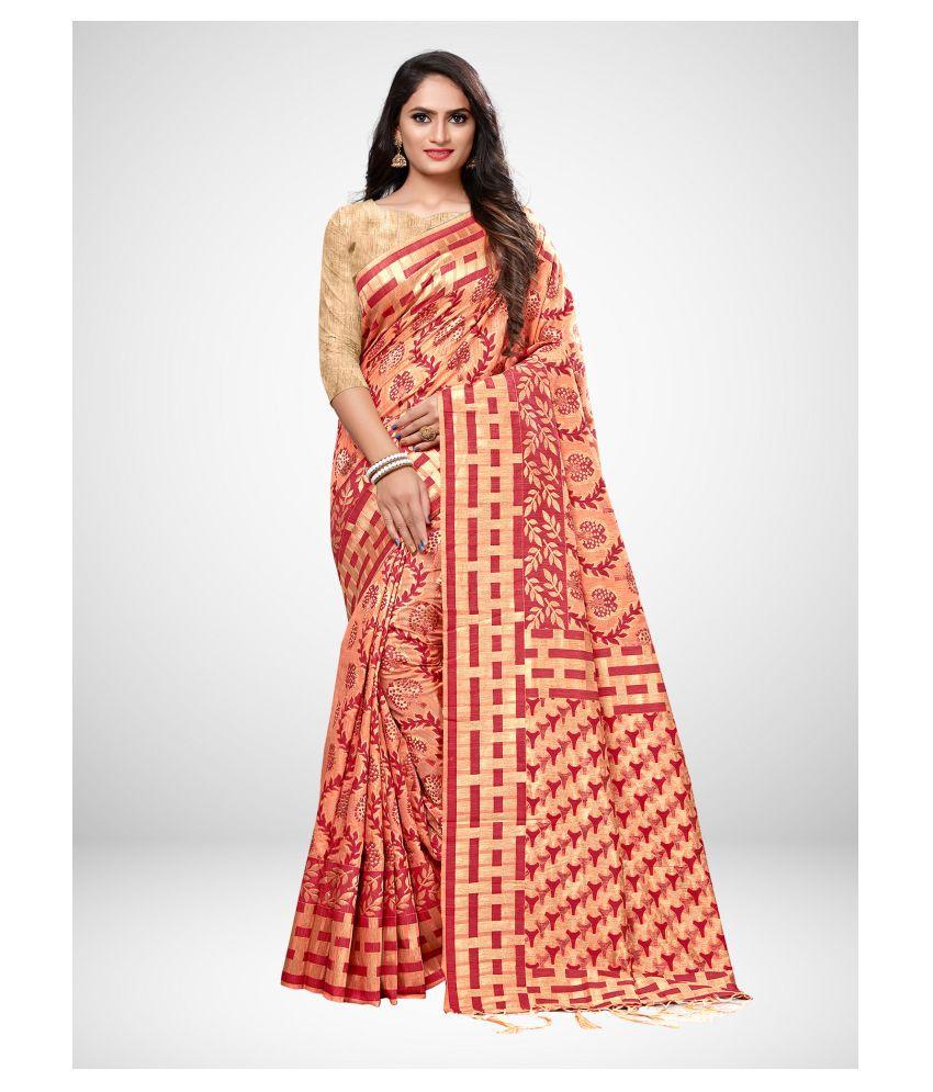 Sherine Pink Cotton Silk Saree