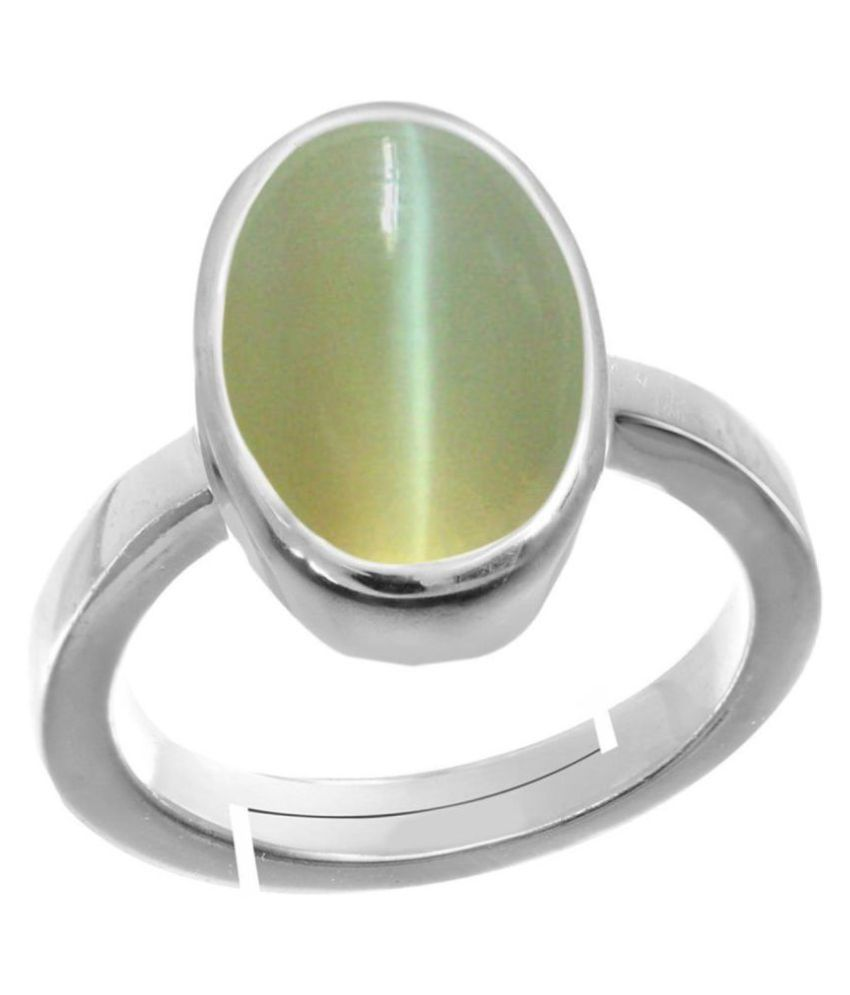 A1 Gems Cat's Eye 7.25 Ratti Certified Natural Lehsuniya Loose Gemstone Ring