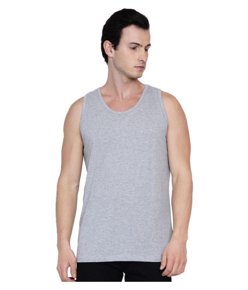 Knits and Weave Grey Sleeveless Vests Single