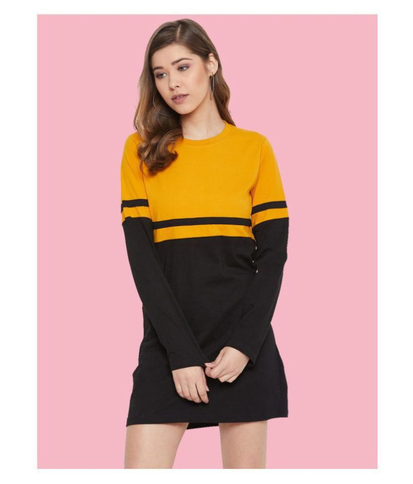 The Dry State Cotton Multi Color T-shirt Dress