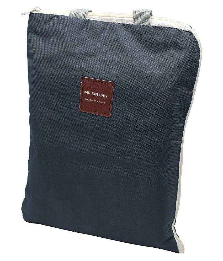 iLife A4 Size Grey Canvas Office Bag