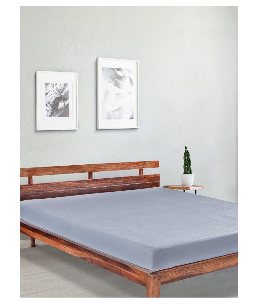 Duroflex Duro Safe Gray Poly Cotton Mattress Protector