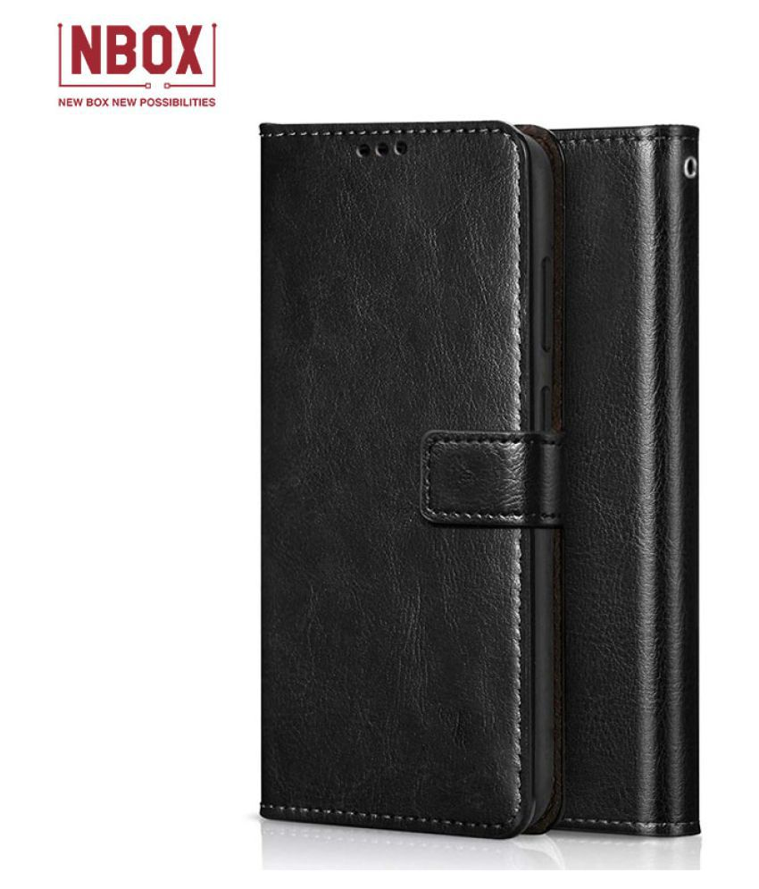 Samsung Galaxy J5 Prime Flip Mobile Cover by NBOX   Black
