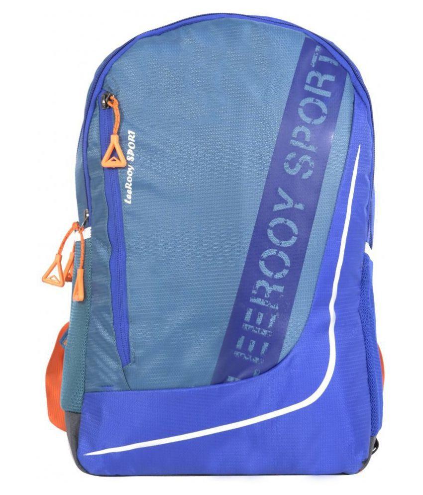 LeeRooy Green Canvas College Bag
