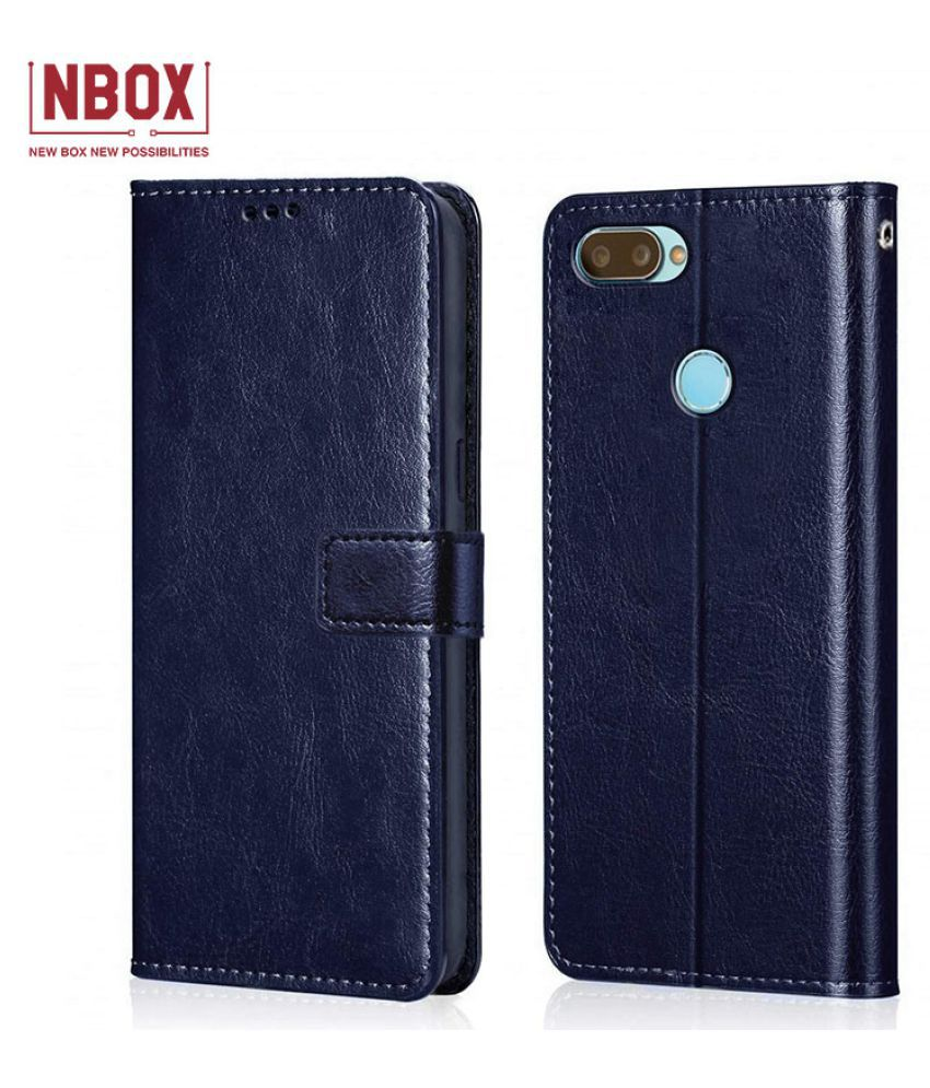 RealMe 2 Pro Flip Mobile Cover by NBOX   Blue