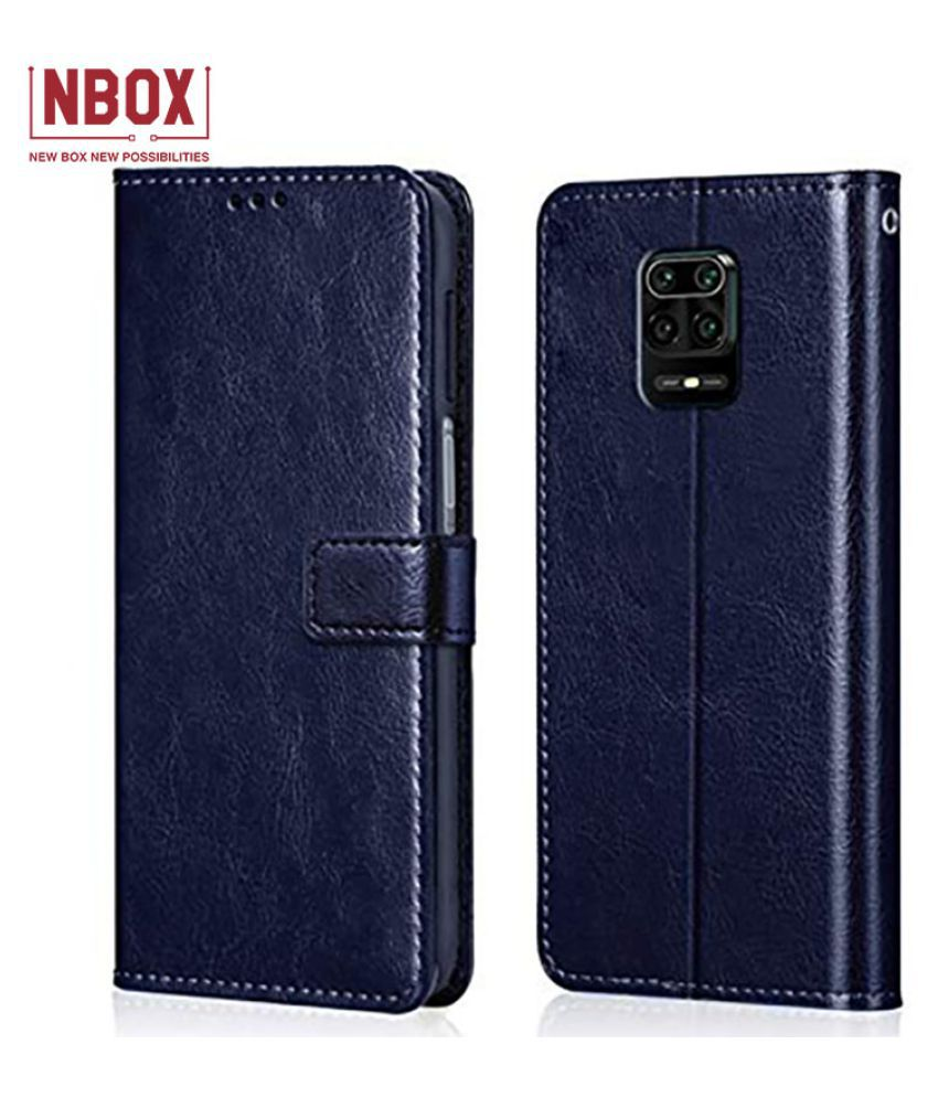 Xiaomi Mi Redmi Note 9 Pro Max Flip Mobile Cover by NBOX   Blue