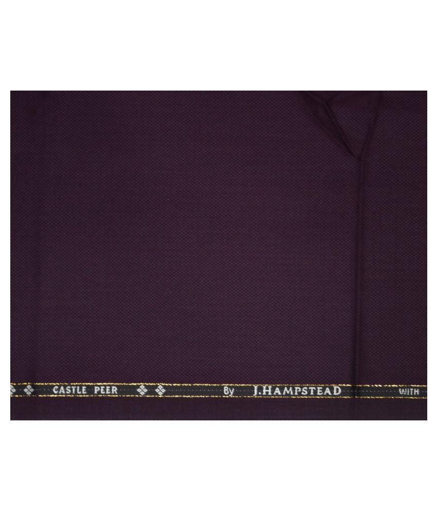 J Hampstead Purple Woollen Unstitched Pant Pc