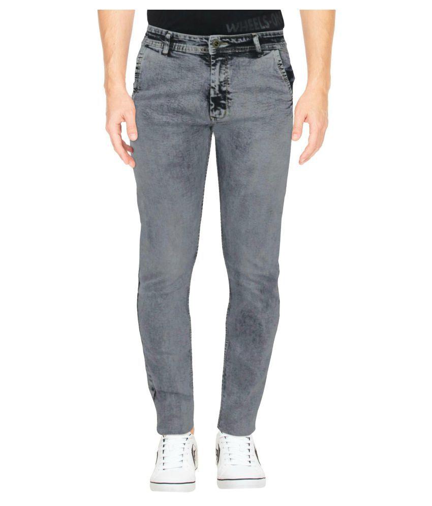 HYMEN LEGIONS Grey Regular Fit Jeans