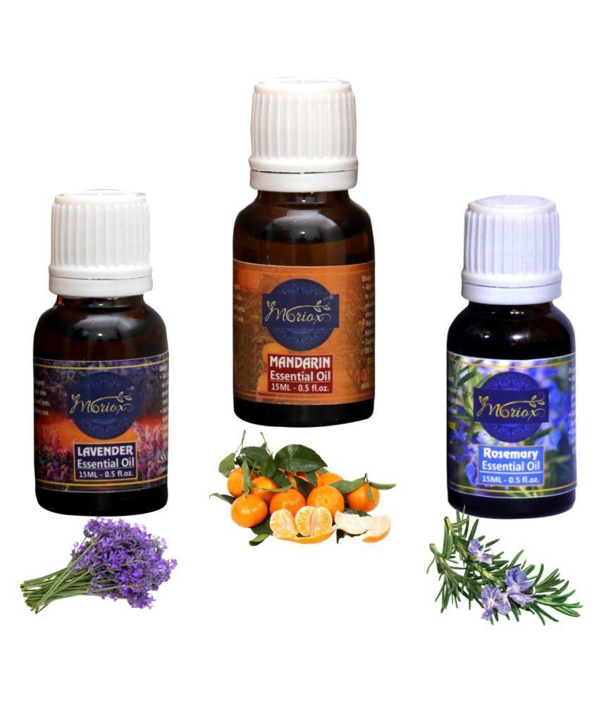 Moriox Lavender Oil,Mandarin Oil,Rosemary essential oils-Pack of 3 Aromas/Diffuser/Soap Oil Essential Oil 180 g