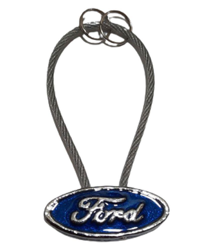 eshop24x7 Metallic Keychain Ford Single Black