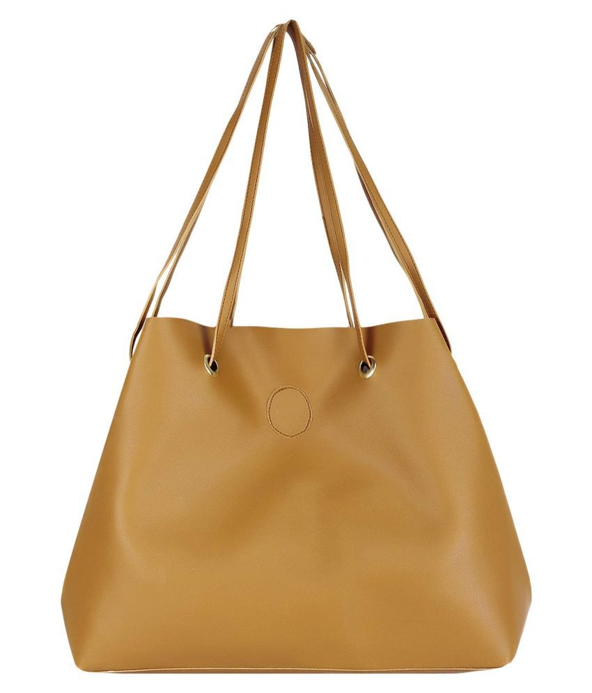 FIONA TREND Gold P.U. Shoulder Bag