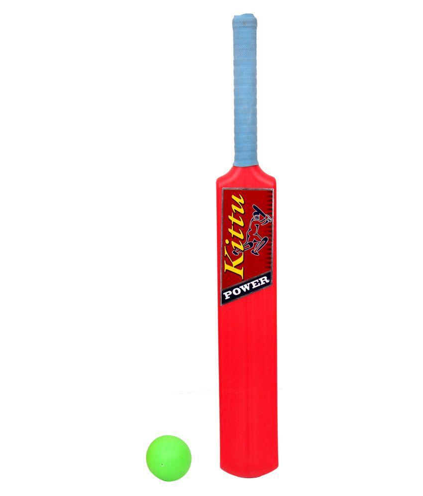 KITTU BRAND CRICKET BAT BALL SET - 4NO FOR KIDS SPORTS GAME